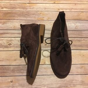 Hush Puppies Suede Chocolate Brown Chukka Boots